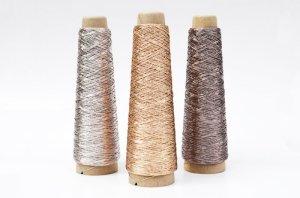 画像1: 金属のような輝き 和紙×レーヨン-ラメ糸-「あたかも」