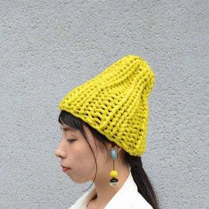 画像2: AMO-ハイブリットニット-手編み リブニット帽